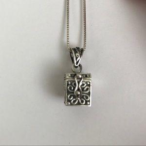 "Jewelry - ""Poison"" Box Locket Pendant, Sterling Silver"